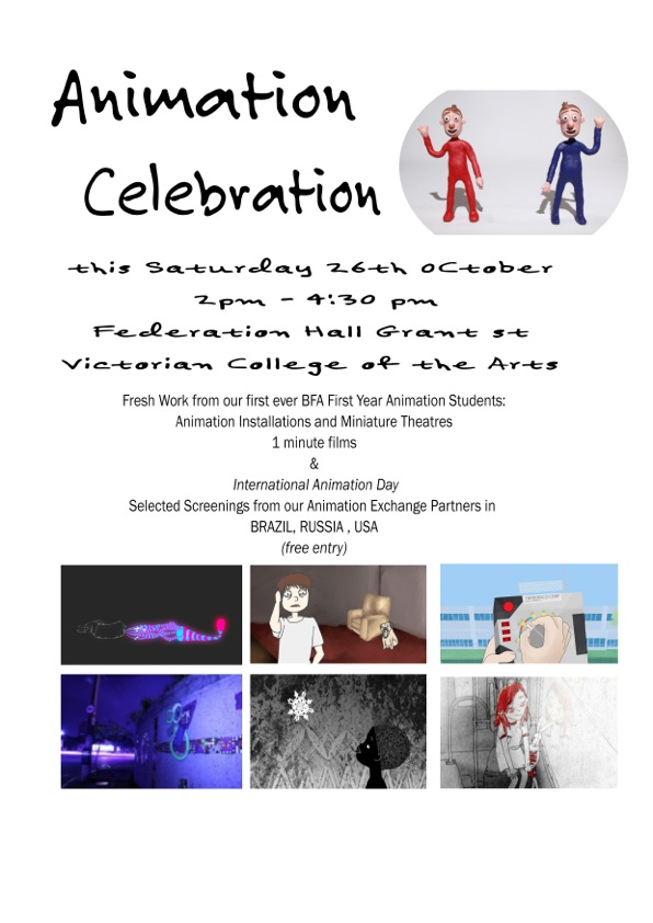 ANIMATION EVENT THIS SATURDAY 26th